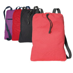 Wholesale Cotton Canvas Cinch Pack / Drawstring Backpacks