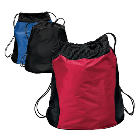 Two-Tone Cinch Pack / Drawstring Backpack. BPK212