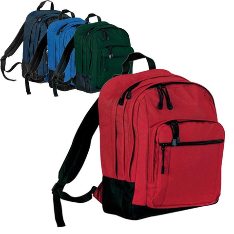 Polyester Backpack With Front Zippered Pocket