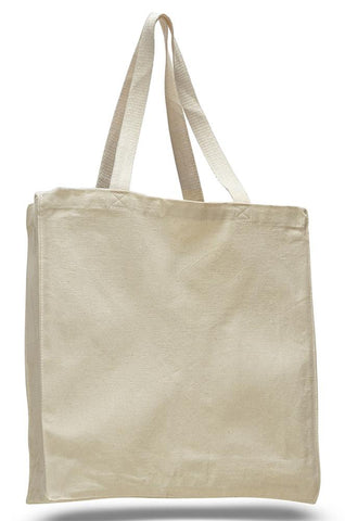 12 ct Heavy Canvas Wholesale Tote bags With Full Gusset - By Dozen