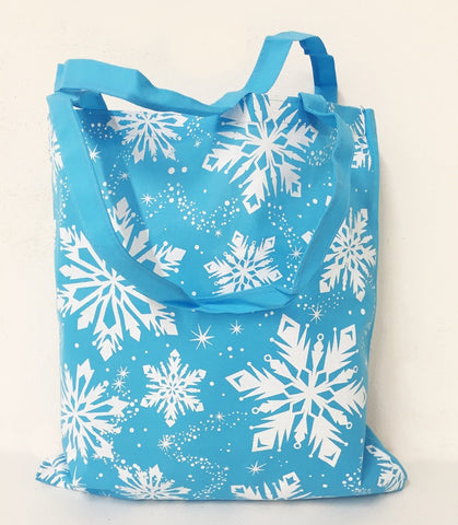 Promotional Snowflake Design Winter Tote Bags