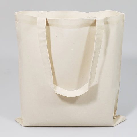 12 ct Natural 100% Cotton Tote Bag - By Dozen