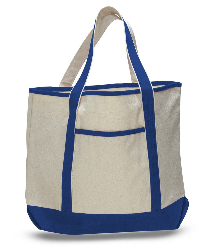 3961d932c0640 ... Royal Promotoinal Canvas Deluxe Tote Bag ...