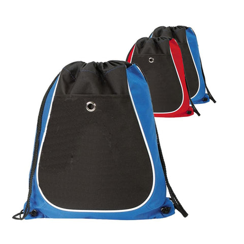 Tri-Color Cool Drawstring Bag / Cinch Pack. BPK277