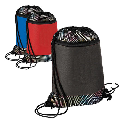Large Nylon Mesh Drawstring Bag. BPK281