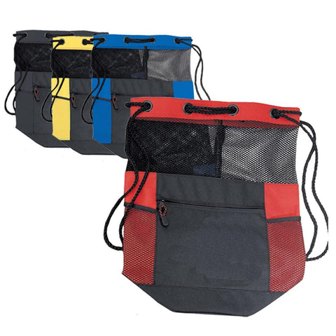 Expanded Polyester Mesh Bag / Drawstring Backpack. BPK299