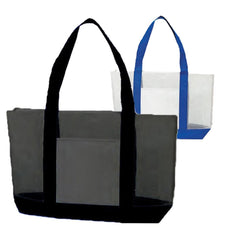 Nylon Mesh Large Tote Bag With Zipper