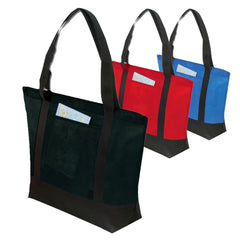 Two-Tone Polypropylene Zippered Tote Bags