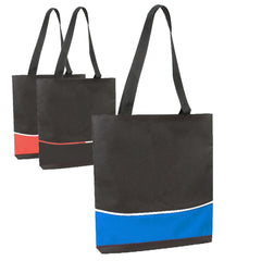 Multi Functional Economical Polyester Three-Tone Tote Bags