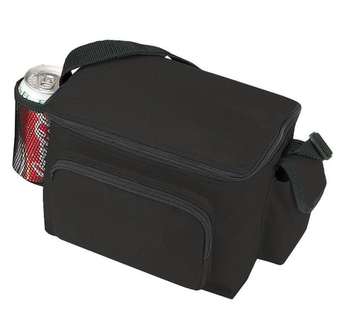 Multi-Pocket Polyester 6-Pack Cooler Lunch Bags