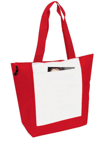 600D Polyester Deluxe Zipper Tote Bag