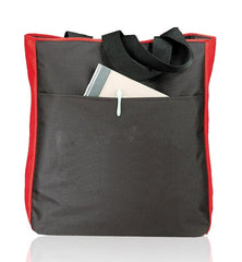 Side Zippered Polyester Tote Bags