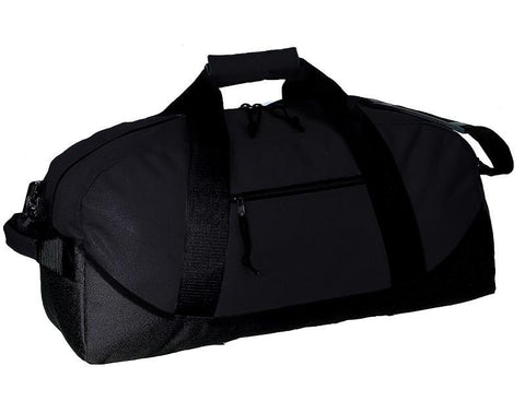 Two-Tone Polyester Medium Duffel Bag - (CLOSEOUT)