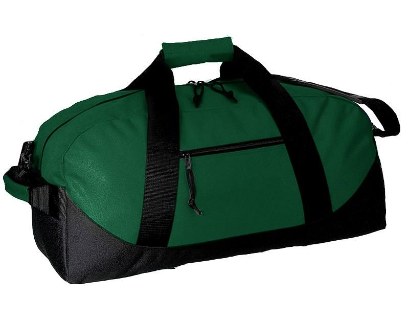 b953d67770 ... Forest Green Black Two-Tone Polyester Duffle Bags