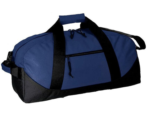 Two-Tone Polyester Medium Duffel Bag