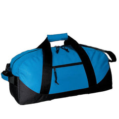 Royal/Black Polyester Duffel Bags