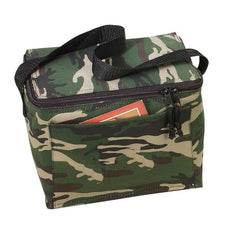 600D Polyester Camo 6 Pack Cooler