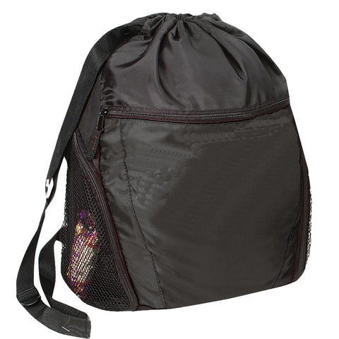 Large Capacity Drawstring Bag Multi-Pocket for Gym Sports & Workout Gear