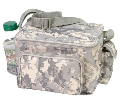 Digi Camo 6-Pack Cooler Lunch Bag With Side Pockets