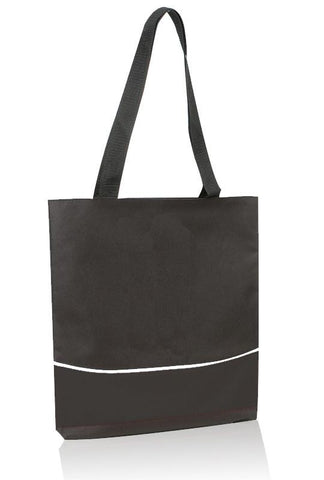 Multi Functional Economical Polyester Three-Tone Tote Bag (CLOSE OUT )