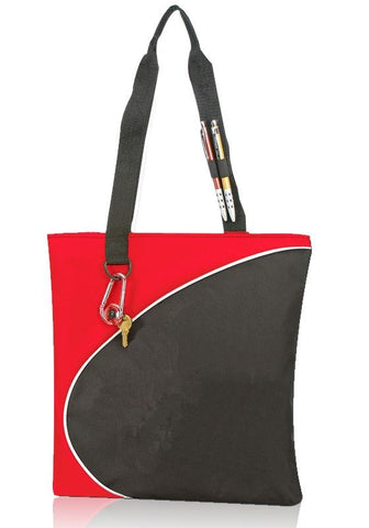 Tri-Tone Cute Polyester Tote Bags