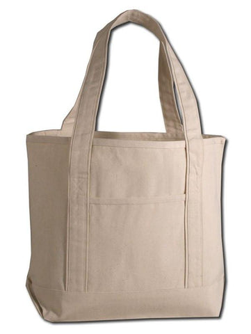72 ct Medium Size Heavy Canvas Deluxe Tote Bag - By Case