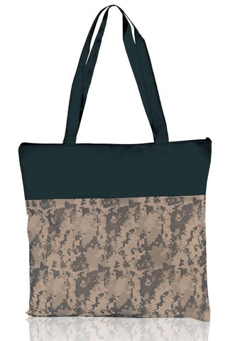 Military Style Non-Woven Polypropylene Two-Tone Tote Bag