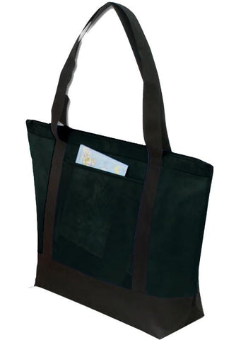 Two-Tone Polypropylene Zippered Tote Bag