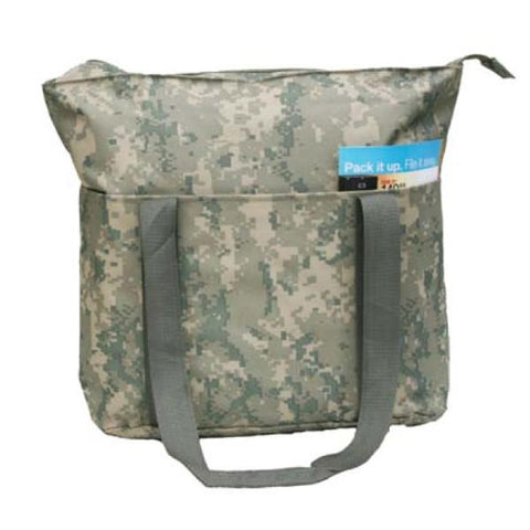 Large Digi Camo Poly Tote Bag with Zipper