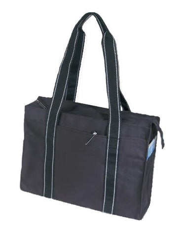 Luxory Tote Bag with Side and Front Pockets