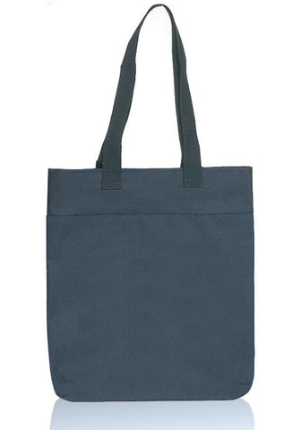 Two Tone Polyester Tote Bags With Long Handles