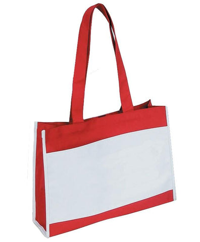 Travel Tote Bag with Hook and Loop Closure