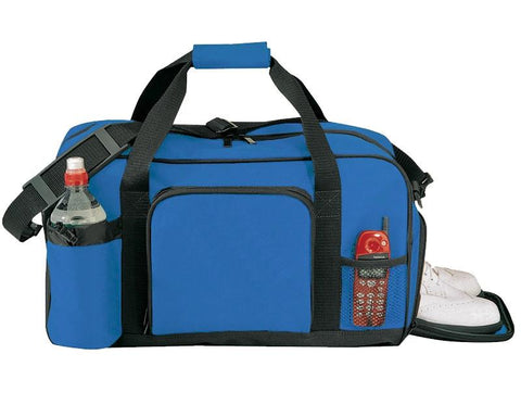 Poly Duffle Bag with Adjustable & Removable Shoulder Strap