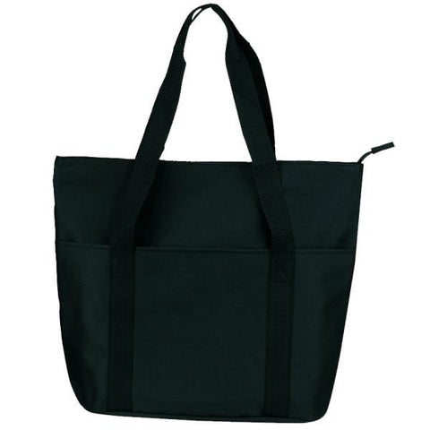 Zippered Shopping Bag with Interior Slip Pocket