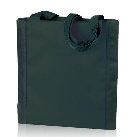 Durable Two-Tone Polyester Tote Bags