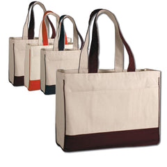 Wholesale Cotton Canvas Tote Bag with Inside Zipper Pocket