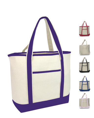 48 ct Jumbo Size Heavy Canvas Deluxe Tote Bag - By Case