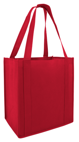 50 ct Reusable Grocery Bag / Shopping Tote with PL Bottom - Pack of 50