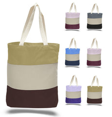 Canvas Tote Bag - Tri-Color Tote Bags
