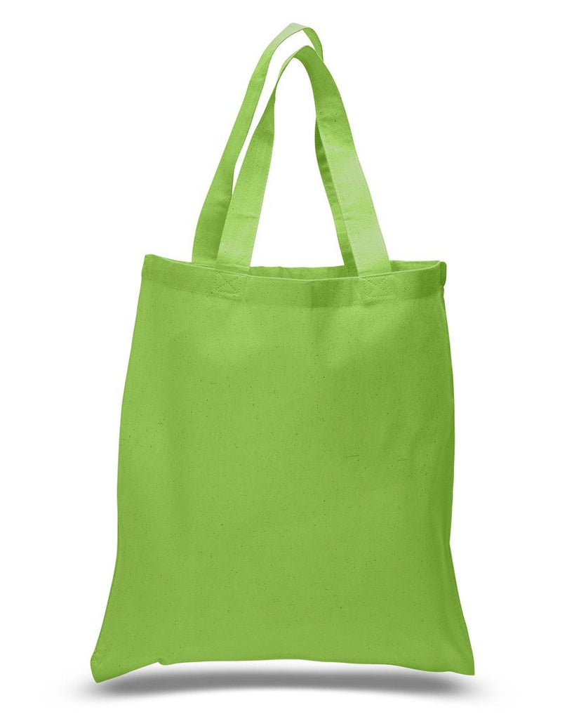 ... Natural Cotton Reusable Tote Bags Lime Green ... 1eefbbfc81