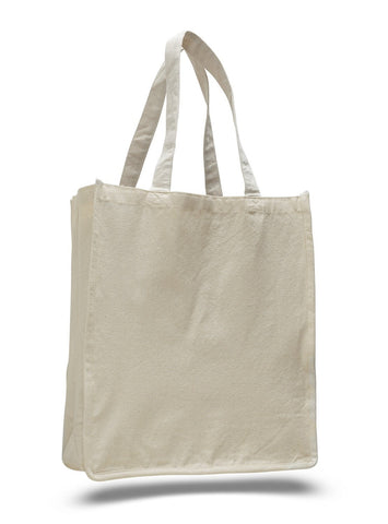 Jumbo Size Heavy Canvas Wide Shopper Tote Bag - TF240