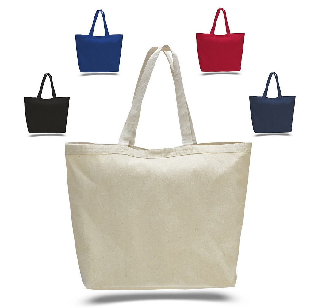 9305a299afb5 Large Heavy Canvas Tote Bag - Tote Bags with Hook and Loop Closure ...