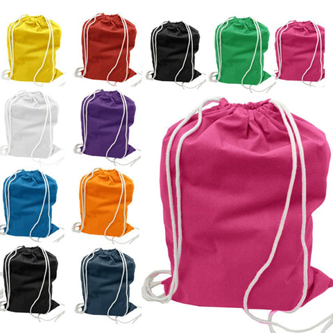 Set of 50 - Cotton Drawstring Bag / Cinch Packs- Blank BPK388