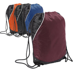 Tri-Color Rival Cinch Pack / Drawstring Bag. BPK387