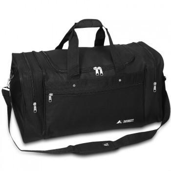 ... Bulk Black Sports Duffel - Large Wholesale ... 08383a89f885