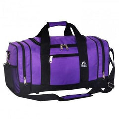 Kids Dark Purple / Black Sporty Gear Bag Wholesale