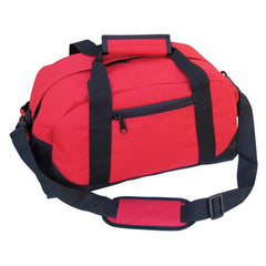 "18"" Standart Size Two Tone Duffle Bag W/ Velcro Handle"