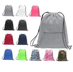 Stylish Sweatshirt Cinch Pack Drawstring Backpack