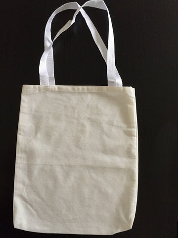 "12"" Small Canvas Tote Bag / Book Bag"