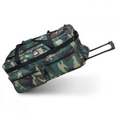Wholesale Wheeled Jungle Camo Duffel Cheap